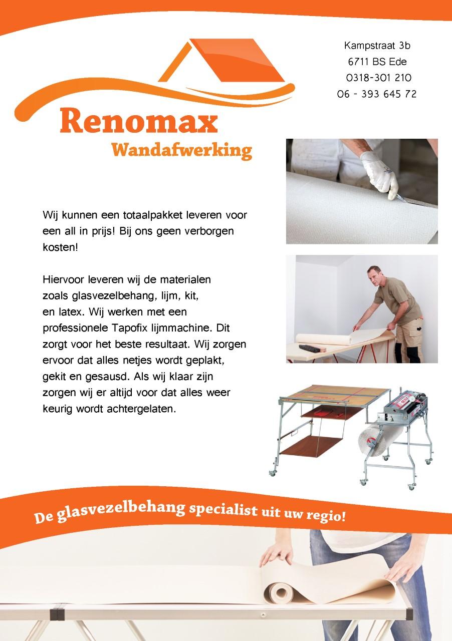 Renomax wandafwerking de glasvezelbehang specialist uit for Glasvezelbehang sauzen